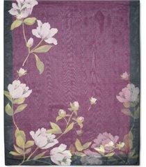 calvin klein floral logo scarf
