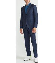 traje italiano cuadros azul trial