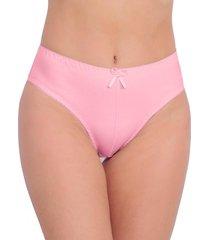 calcinha vip lingerie tangão algodão cintura alta rosa - kanui
