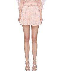 'vinita' tiered ruffle mini skirt