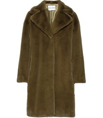 camille cocoon coat outerwear faux fur grön stand studio