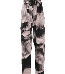 paul smith oversized pocket trousers - pink