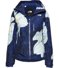 w descendit jacket fiery red outerwear sport jackets blå the north face