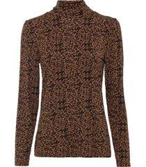 maglia a collo alto in tencel™ lyocell (marrone) - bodyflirt