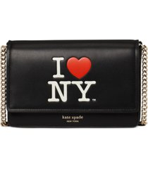 kate spade new york i heart ny flap chain leather wallet