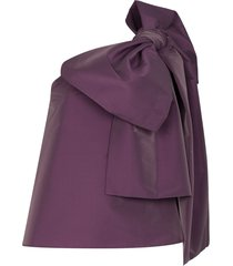 bernadette winnie one-shoulder bow top - purple