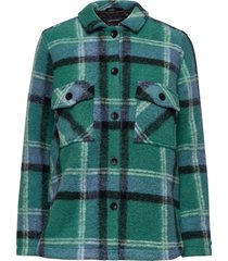 w kelly shirt jacket tricolour overshirts groen peak performance