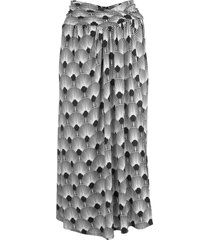 paco rabanne stretch jersey midi skirt - black