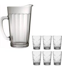 jarra de vidro sture mã³veis para suco modelo americano 1,2 litros - transparente/unico - dafiti