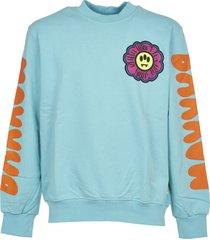 barrow azure daisy print sweatshirt