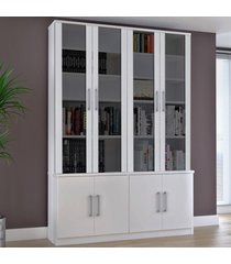 estante para livros 8 portas 128312185 branco - foscarini