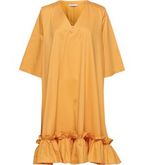 berle dress korte jurk oranje holzweiler