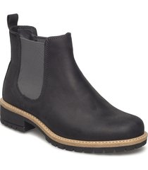 elaine shoes boots ankle boots ankle boots flat heel svart ecco
