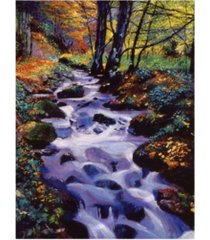 "david lloyd glover watersounds in fall forest canvas art - 37"" x 49"""