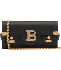 balmain smooth leather bag