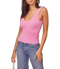 women's astr the label splendour sleeveless sweater, size small - pink