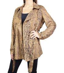chaqueta cobra marrón humana