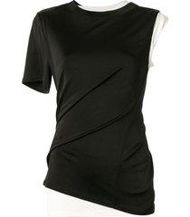 monse layered single sleeve t-shirt - black