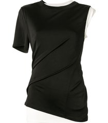 monse layered single sleeve t-shirt - black