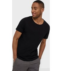 selected homme slhmorgan ss o-neck tee w noos t-shirts & linnen svart