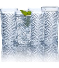 mikasa ballard braid hiball glasses, set of 4