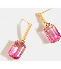 madelyn ombré statement earrings - pale pink