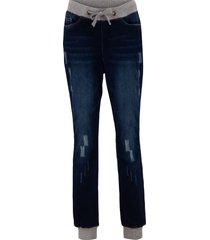 jeans boyfriend comfort in cotone con cinta comoda (nero) - bpc bonprix collection