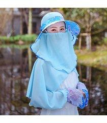 cappello scialle femminile maschera abito rimovibile sottile con protezione solare per il sole