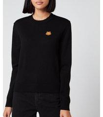 kenzo women's underpinning crewneck sweatshirt - black - l