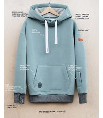 bluza z kapturem lazy kangaroo blue grey