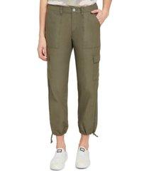 dkny jeans drawstring-hem cargo pants