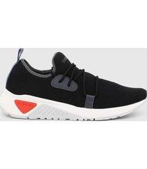 zapatilla  s astico mid cut sneakers  negro diesel