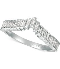 le vian baguette frenzy diamond ring (1/2 ct. t.w.) in 14k white gold