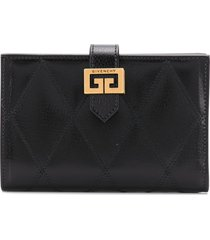givenchy gv3 quilted-effect wallet - black