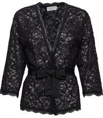 cardigan 3/4 s blouse lange mouwen zwart rosemunde