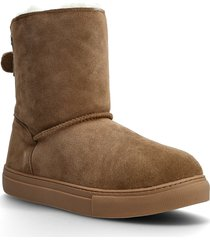 florens shoes boots ankle boots ankle boot - flat brun axelda for feet
