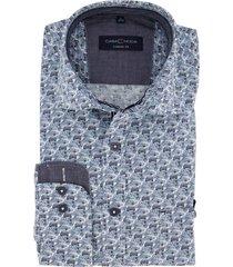 casa moda casual shirt navy print