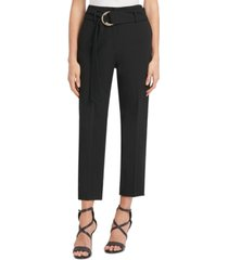 dkny d-ring-belted ankle pants