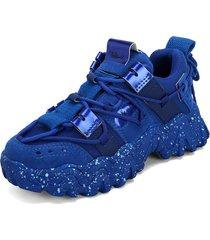 tenis sneakers azul oscuro tellenzi 224