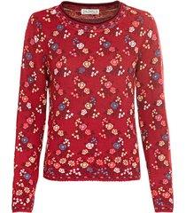 jacquard pullover, rood-motief 36/38