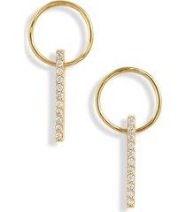 women's gorjana balboa hoop drop earrings