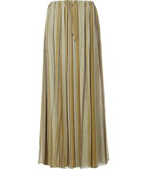 brunello cucinelli long pleated skirt