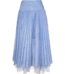 light blue sangallo lace skirt