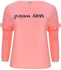 buzo con screen y arandela color rosado, talla 16