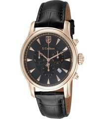 reloj s.coifman sc0225 negro cuero hombre