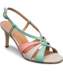 dance sandal heelstring sandal med klack grön apair