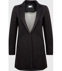 abrigo ash negro - calce regular