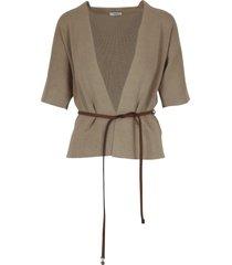 peserico short sleeves cardigan top-wear