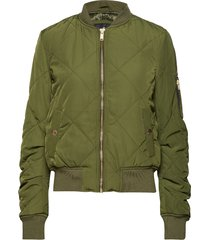 quilted utility bomber bomberjack groen superdry