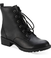 sun + stone frannie combat booties, created for macy's women's shoes